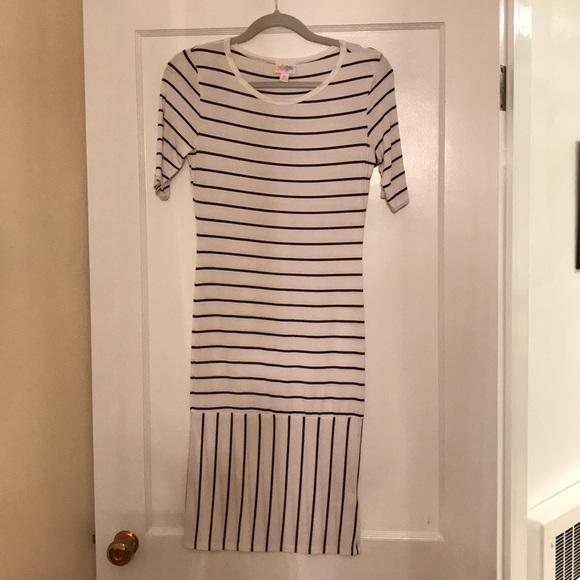 LuLaRoe Dresses & Skirts - NWOT LulaRoe Black and White Striped XS Julia